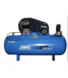 COMPRESOR 200L 3HP MONOFASICO CORREA DOBLE PISTON ABAC