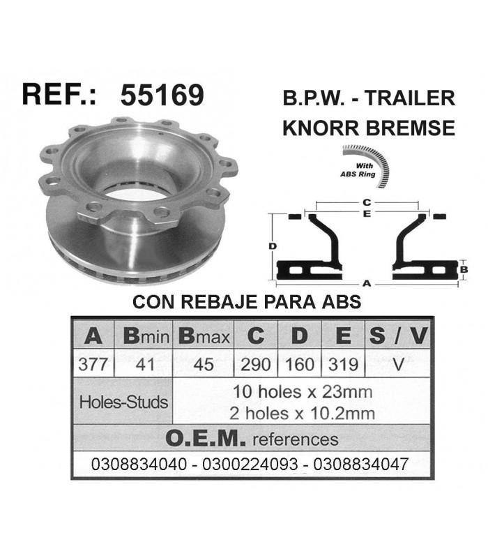 DISCO FRENO BPW / TRAILER / KNORR BREMSE