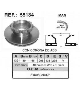 DISCO FRENO MAN C/ABS