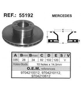 DISCO FRENO MERCEDES ATEGO 98-04