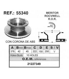 DISCO FRENO MERITOR / R.O.R C/ABS