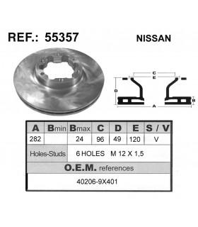 DISCO FRENO NISSAN CABSTAR / ATLEON 120