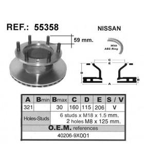 DISCO FRENO NISSAN L80 / ECOTEC-100 C/ABS