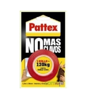 CINTA ADHESIVA NO MAS CLAVOS 120KG PATTEX