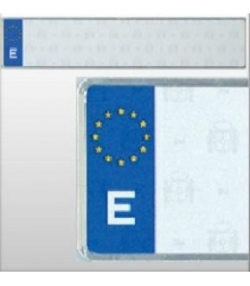 PLACA LARGA EUROPEA