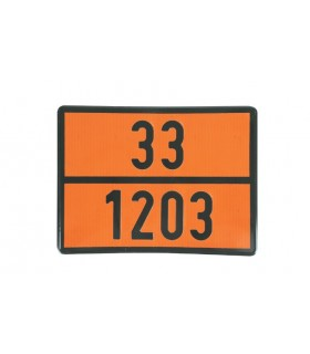 PLACA TRANSPORTE GASOLINA 30/1203