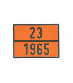 PLACA TRANSPORTE GAS 23/1965
