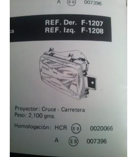 FARO CRUCE-CARRETERA DERECHO SEAT MALAGA REG. HIDRAULICA