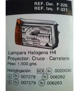 FARO DERECHO SEAT PANDA H4