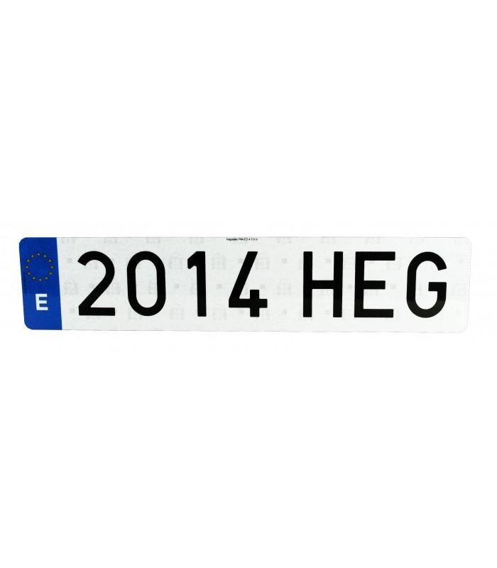 "PLACA ""HILTEK"" LARGA EUROPEA 520X110MM"