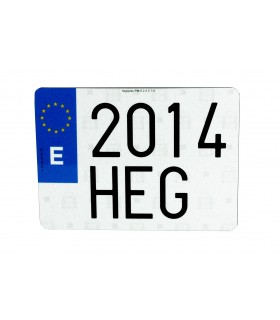 "PLACA ""HILTEK"" LARGA EUROPEA 520X110MM"