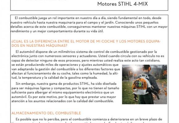 Directrices sobre el uso de combustible en motores Stihl